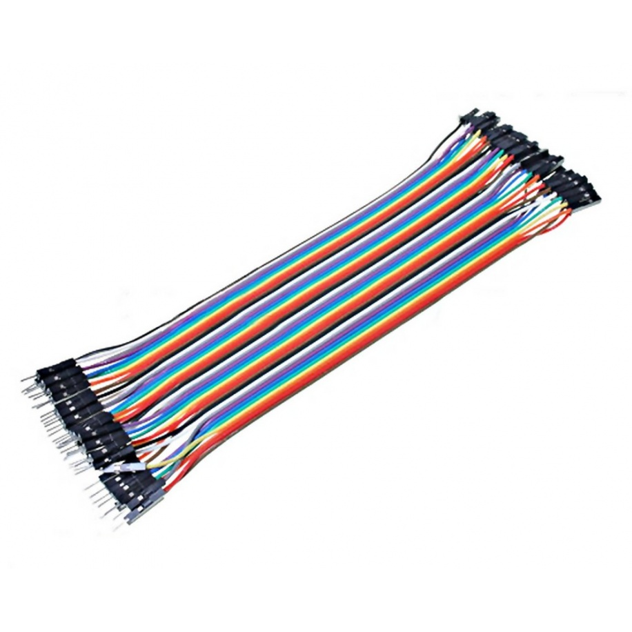 Cable Hembra Macho 40 x 1 pin 20cm Female - Male Jumper Cables for Arduino