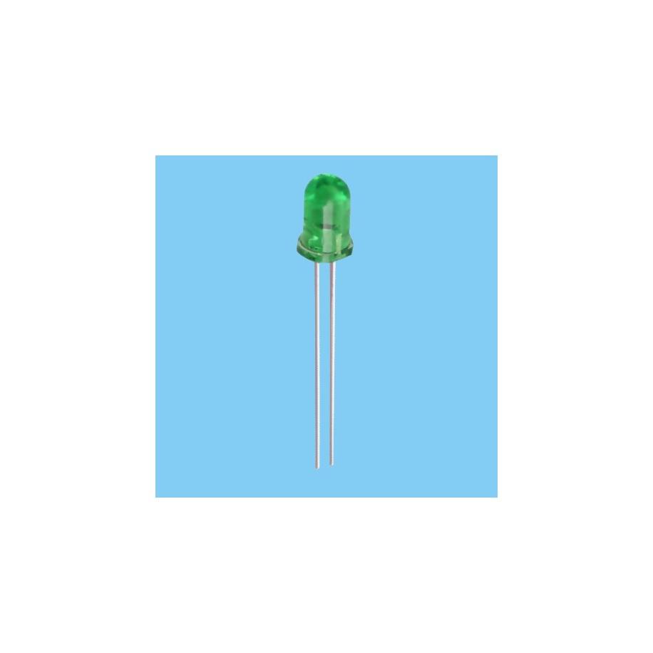 Diodo Led 3mm - Verde