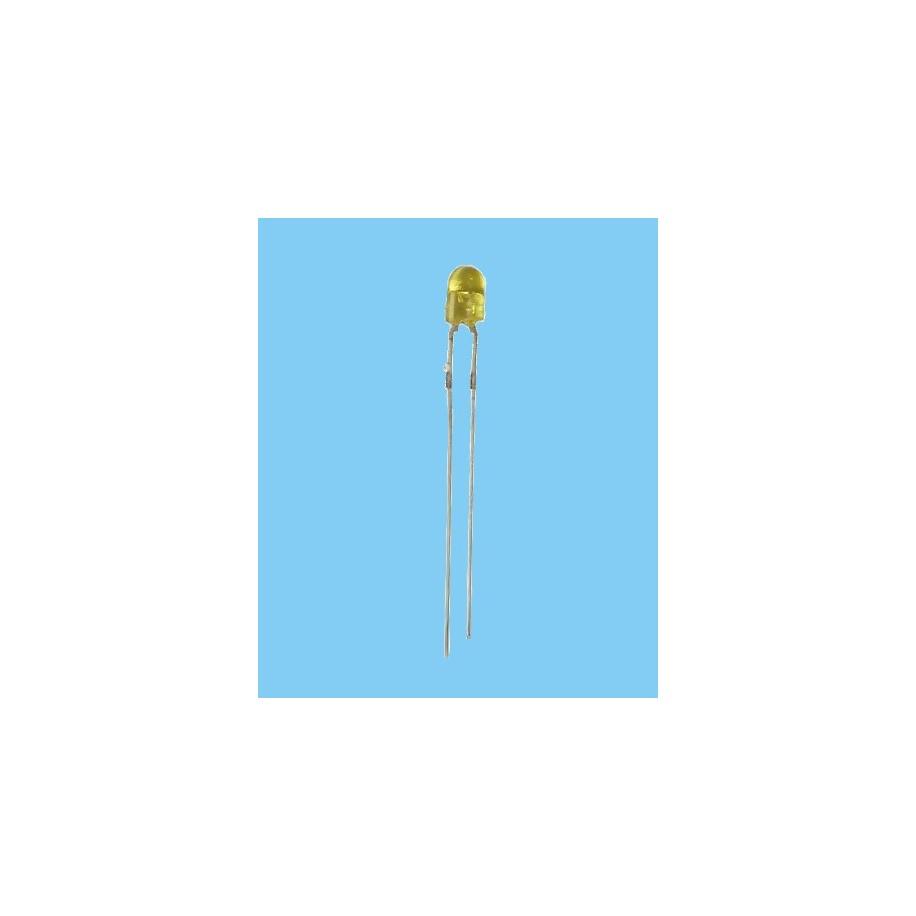 20x Diodo Led 3mm - Amarillo