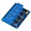 Módulo de 4 canales de Relés de 5V con optoacoplador compatible arduino