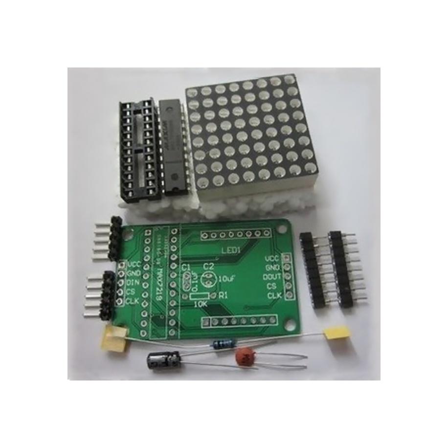 Kit para ensamblar display matriz 8x8 LED con MAX7219