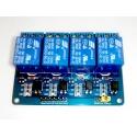 Módulo de 4 canales de Relés de 12V con optoacoplador compatible arduino