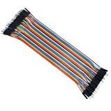 Cable Macho Macho 40 x 1 pin 20cm Male - Male Jumper Cables for Arduino