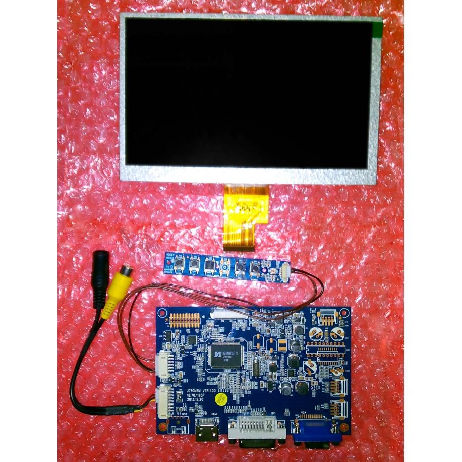 Pantalla LCD 1024x600 con entradas HDMI, DVI, VGA y CVBS (Vídeo compuesto)