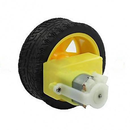 Motor con rueda y reductora en L para smart car