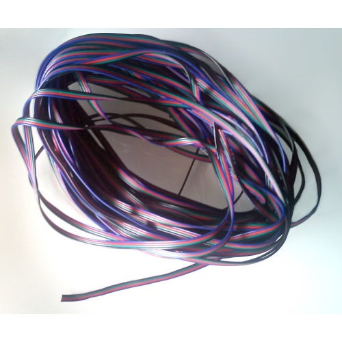 Cable RGB para tiras LED. 4 conductores AWG22