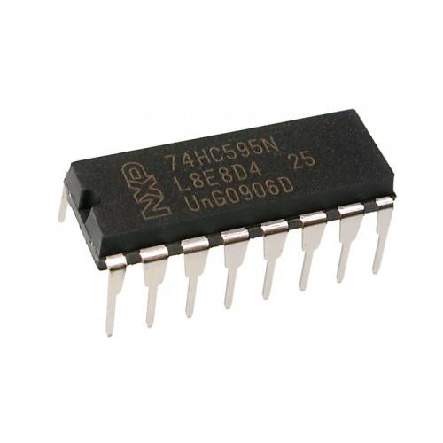 5x 74HC595 3-state,8bit, shift register, latch