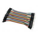 Cable Macho Macho 40 x 1 pin 10cm Male - Male Jumper Cables Arduino