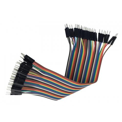 Cable Macho Macho 40 x 1 pin 30cm Male - Male Jumper Cables for Arduino