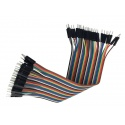 Cable Macho Macho 40 x 1 pin 30cm Male - Male Jumper Cables for Arduino