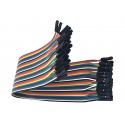 Cable Hembra Hembra 40 x 1 pin 30cm Female - Female Jumper Cables Arduino