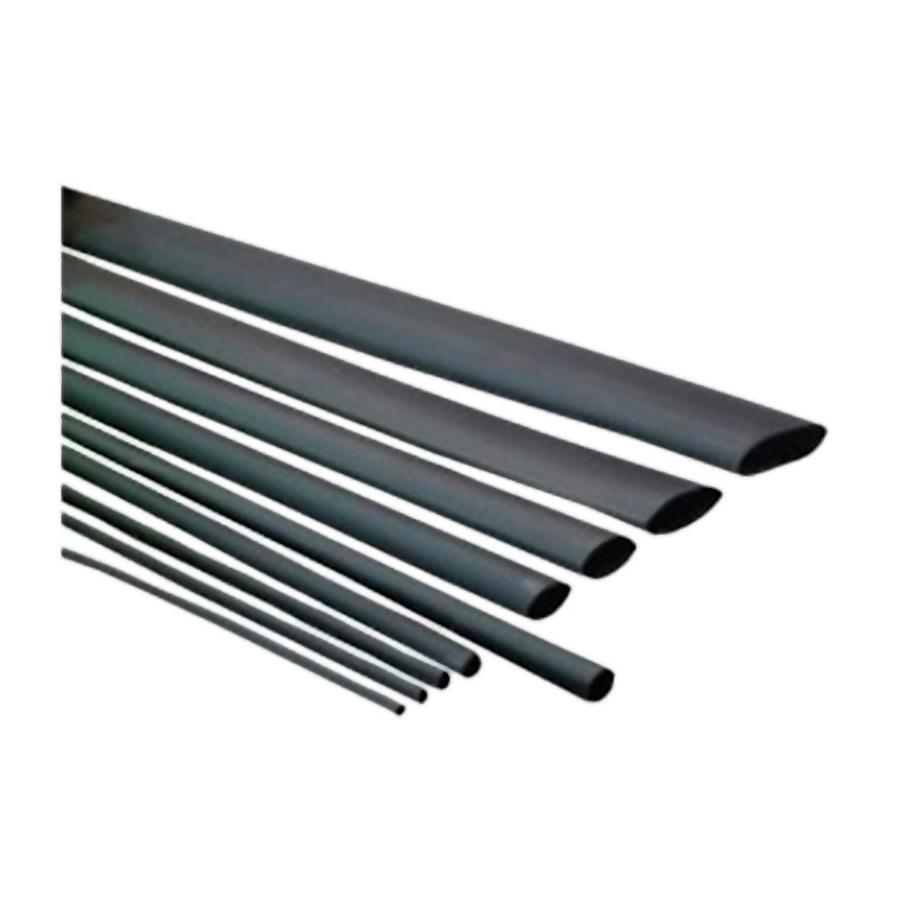 Tubo termoretráctil 1.6 mm negro, 2:1 poliolefina