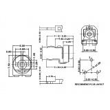 Potenciómetro montaje horizontal monovuelta
