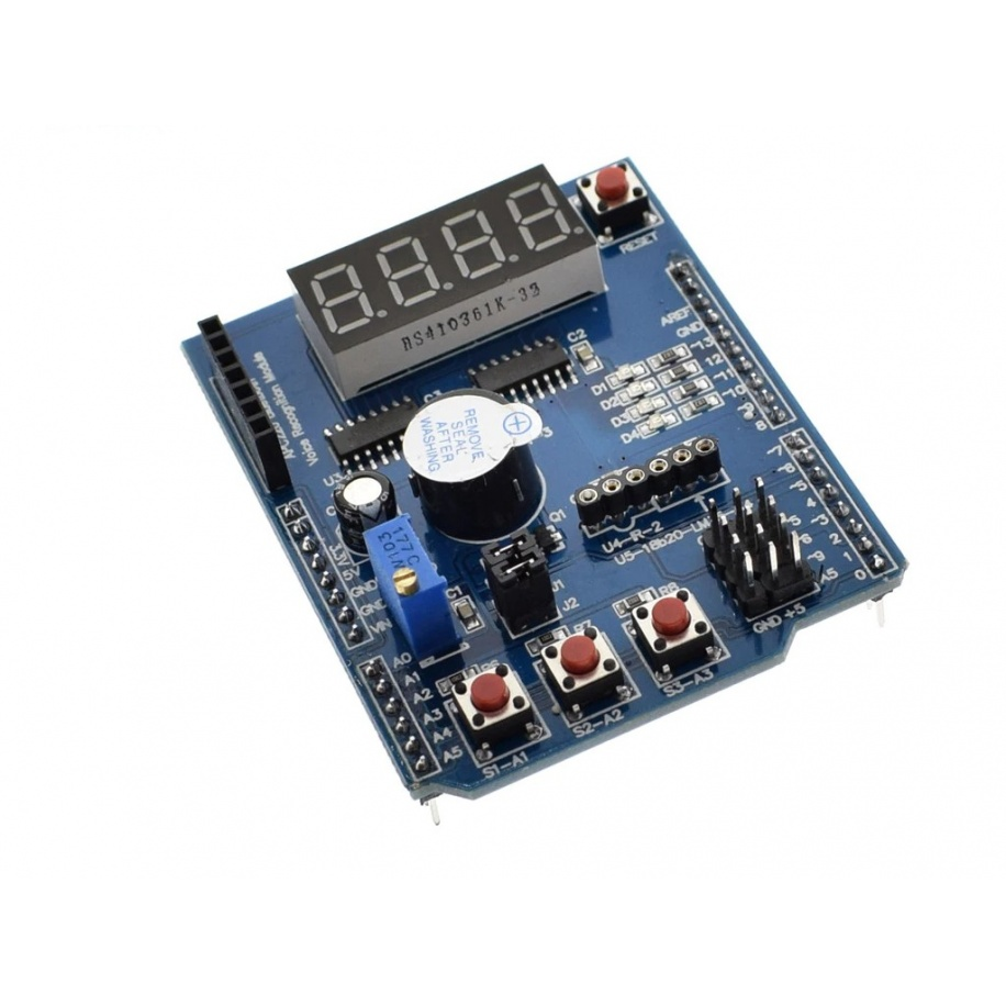 Shield multifuncional de aprendizaje para Arduino