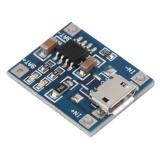 Módulo cargador baterias Litio micro USB Charger Li-Ion TP4056 5V 1A