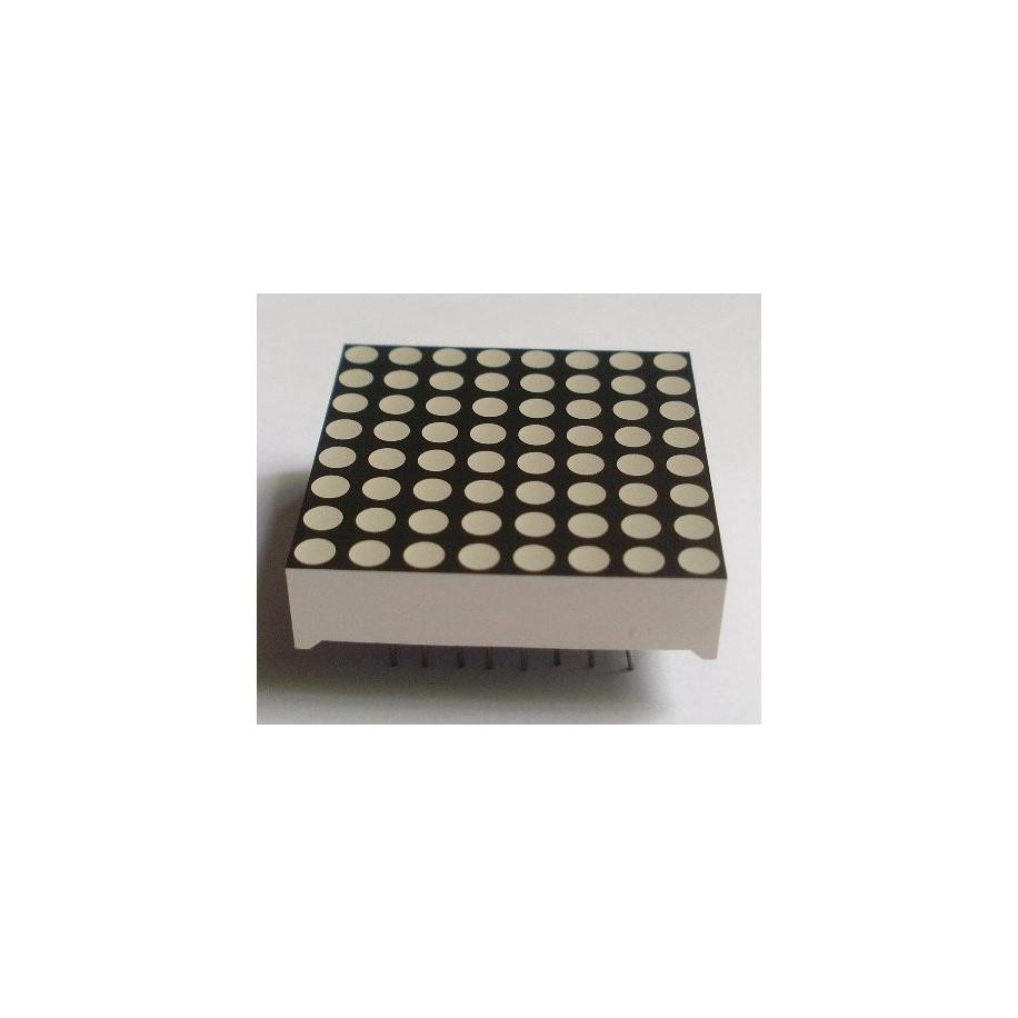 Matriz de LED 8x8 3mm Rojo. Anodo Común